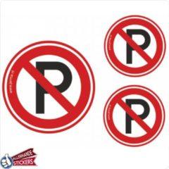 Rode Allerhande Stickers Verboden te parkeren verkeersbord stickers