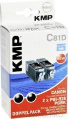 KMP Inkt vervangt Canon PGI-525 Compatibel 2-pack Zwart C81D 1513,0021