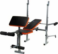 Viking Choice Sportbank - opklapbaar - multifunctioneel - volledig instelbaar - voor gewichten - zwart & oranje