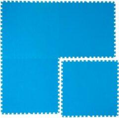 Eyepower Zwembadmat Vloerbescherming Tegels Matten 81x81 cm Blauwe puzzelmatten