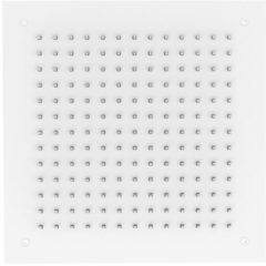 Inbouw Hoofddouche GRB InCool Vierkant 35x35 cm Wit