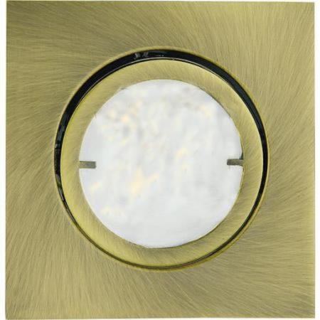 Afbeelding van Eckige LED-Einbauleuchte Joanie, altmessing