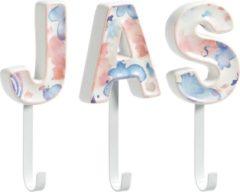 Lucy's Living kapstokhaak J A S - 8 x 18 cm - halaccessoires - 3 haken - gang - wandkapstok