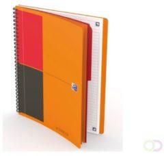 Oxford International Activebook Connect, Stevige Kartonnen Kaft Oranje, 160 Bladzijden, Ft B5, Gelijnd