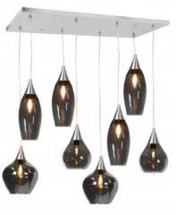 Roestvrijstalen Highlight Hanglamp Cambio 8 lichts L 95 x B 40 cm