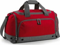 Bagbase Sporttas/reistas rood/grijs 30 liter - Sporttassen - Weekendtassen - Voetbaltassen