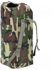 Groene VidaXL Sporttas legerstijl 85 L camouflage
