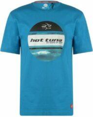 Hot Tuna Printed T-Shirt - Maat L - Heren - Oceaan blauw
