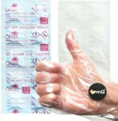 Witte LevinQ Oasis Puritabs LevinQ® Water Roeitrainer Puritabs Chloortabletten Roeimachines 1x 10 tabletten + Handschoenen