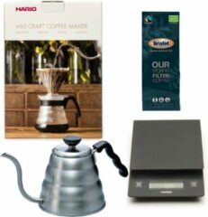 Hario V60 slow coffee kit + Hario V60 Weegschaal + Hario V60 Waterketel 1.2 liter + Bristot OUR Biologische Filter Koffie