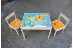 De Fabriek Muurstickers Kinder meubel Houten set wereld
