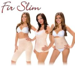 Huidskleurige Fir Slim Body Shaper 3-delige set Beige/Nude Maat L - Afslankbroekje - Afslankhemd - Tailleband