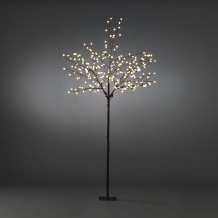 Afbeelding van Quality4All LED Lichtboom, met globe LED, 250cm, bruin, met standaard - Quality4Al