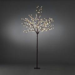 Quality4All LED Lichtboom, met globe LED, 250cm, bruin, met standaard - Quality4Al