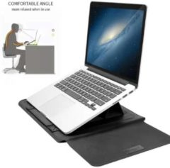 Ntech MacBook Air (2019) 13.3 Inch Sleeve 4 piece set Spatwater proof Hoes met handvat - Zwart