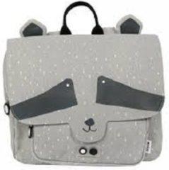 Grijze Trixi Baby Kleuterboekentasje Mr. Raccoon | Trixie Baby