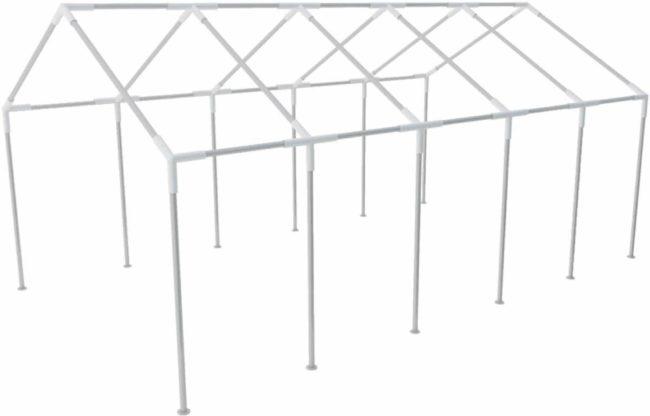 Afbeelding van Zilveren VidaXL - Partytent Stalen frame voor partytenten 10 x 5 m