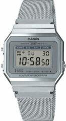 Casio A700WEM-7AEF Horloge Edgy retro-vintage Zilverkleurig 35 mm