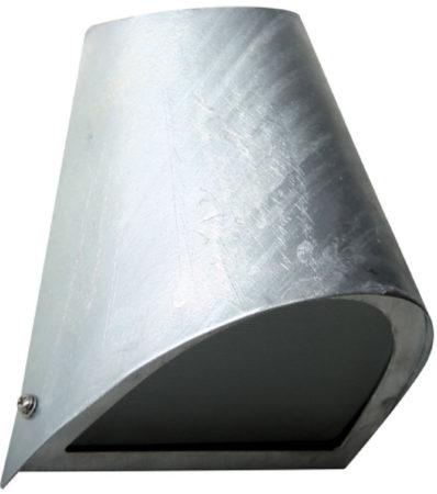 Afbeelding van Zilveren Buitenlamp Downlighter - Wandlamp - Gegalvaniseerd - Zilver - KS Verlichting