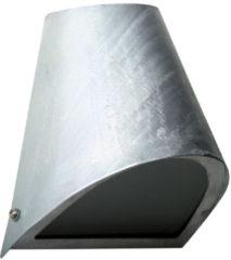 Zilveren Buitenlamp Downlighter - Wandlamp - Gegalvaniseerd - Zilver - KS Verlichting