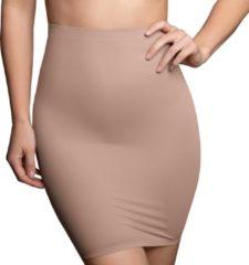 Beige Bye Bra Onzichtbare rok, Corrigerende Onderrok met slip en hoge taille, Licht buik-corrigerend, naadloze shapewear, afslankend ondergoed, huidskleur S