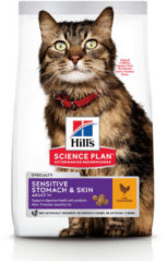 Hill's Feline Adult Sensitive Stomach And Skin - Kattenvoer - 1.5 kg