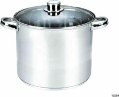 Zilveren Michelino RVS soeppan - XXL kookpan - 20 liter