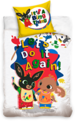 Bing Bunny Let's Play Dekbedovertrek - Eenpersoons - 140 x 200 cm - Multi