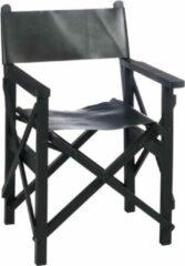 Duverger Cinema - Regisseur stoel - mat zwart - leder - hout - plooibaar - Afm: 56 cm - 88 cm