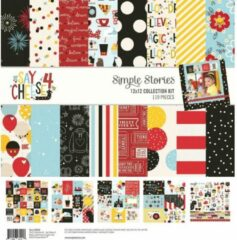 "Simple Stories: Say Cheese 4 Collection Kit 12""X12"" (SAY10522)"