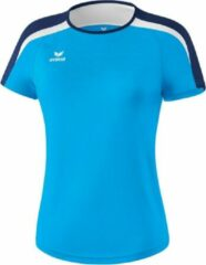 Lichtblauwe Erima Liga 2.0 Trainingsshirt Dames - Curacao/New Navy/Wit