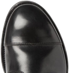 Officine Creative Williams Cap-toe Polished-leather Derby Shoes - Black
