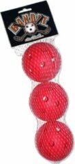 Bandit Floorball Unihockey Gatenballen set 3 stuks ROOD
