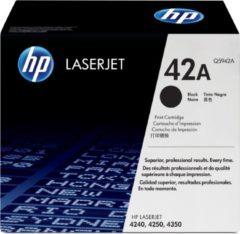 Zwarte HP 42A LaserJet originele toner cartridge zwart standard capacity 10.000 pagina s 1-pack