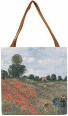 Rode Signare Boodschappentas groot - Poppy Field - Claude Monet