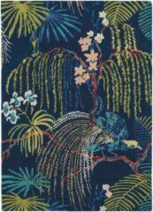 Sanderson - Rain Forest Tropical Night 50708 Vloerkleed - 140x200 cm - Rechthoekig - Laagpolig Tapijt - Klassiek - Meerkleurig
