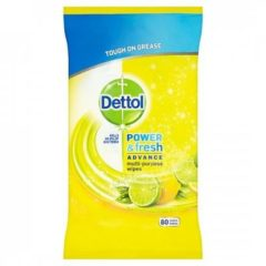 Dettol Power And Fresh Citrus multi-reinigingsdoekjes - 80 stuks