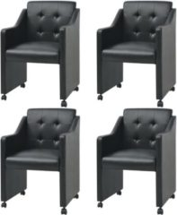 Zwarte VidaXL Eetkamerstoelen 4 stuks zwart 59 x 57,5 86,5 cm