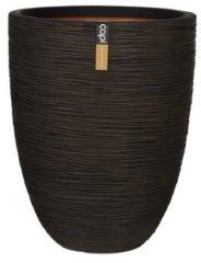 Capi europe Capi Nature Rib NL vase elegant low M 35x35x47cm Bruin bloempot