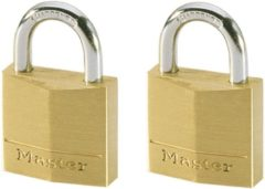 Gele Master lock hangslot 30 mm massief messing 2 st 130eurt