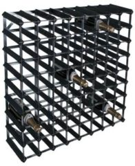 Zwarte RTA - Traditional wine rack 72 bottles black ash