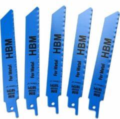 Lemato 5 Delige 150 mm. 18 TPI Reciprozaagbladen set Voor Metaal