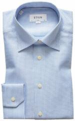 Blauwe Eton Slim fit shirt