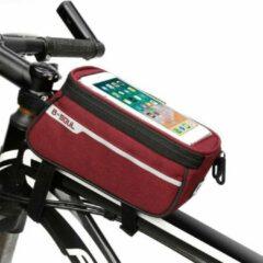Sports4you Frametas voor Smartphone - Telefoonhouder Fiets - Universele Fietstas - Extra Opbergruimte - Powerbank | Rood