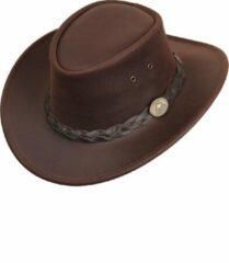Lederen hoed Bush Scippis bruin maat XL