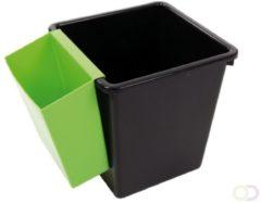Vepa Bins Inzetbak voor vierkante tapse papierbak groen