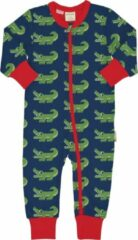 Marineblauwe Maxomorra baby onesie Crocodile 74-80