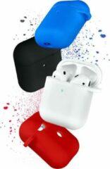 COTEetCi Siliconen Bescherm Hoesje Cover voor Apple AirPods 2 Case - Zwart