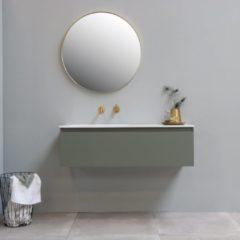 Ink Spiegel Rond Mat Goud Aluminium Kader 40 x 3,5 cm