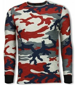 Afbeelding van Sweater Uniplay Army Shirt Zipped Back - Long Fit Sweater